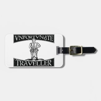 Thomas Nashe Unfortunate Traveller Luggage Tag