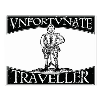 Thomas Nashe Unfortunate Traveller post-card Postcard