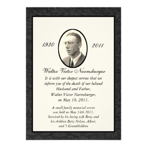 death announcement cards free - 28 images - traditional death - death announcement cards free