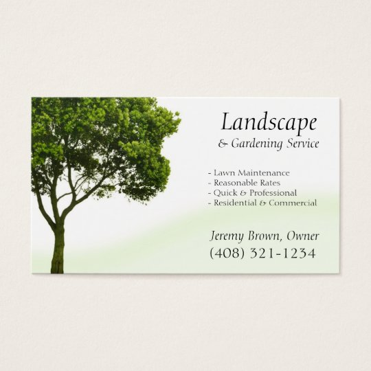 Tree or Lawn Care business card Zazzle - lawn care business cards