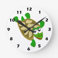 Turtle Wall Clock | Zazzle