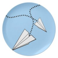 Two Paper Airplanes Plate