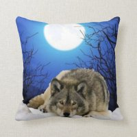 Two Sided Wolf Pillow | Zazzle