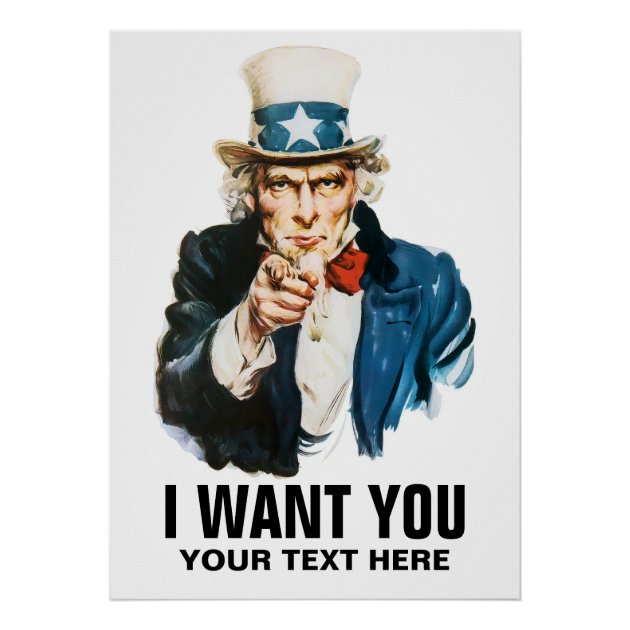 Uncle Sam I Want You Vintage Poster Zazzlecom
