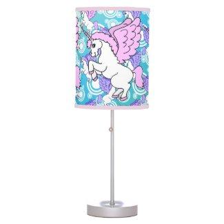 Unicorn Rainbow Pattern Table Lamps