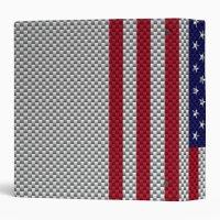 US Flag on Carbon Fiber Style Decor Binder | Zazzle