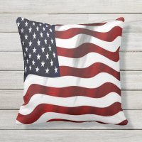 USA Flag Outdoor Pillow   Zazzle