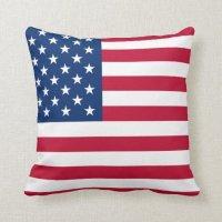 USA Star Flag Throw Pillow   Zazzle