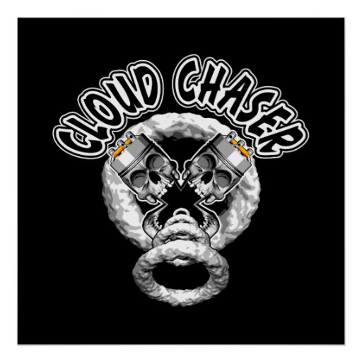Iphone X Off White Wallpaper Vaping Skulls Cloud Chaser Poster Zazzle