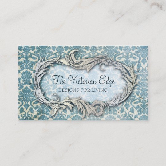 Victorian Aesthetic Damask Business Card Zazzle