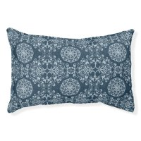 Vintage Denim Elaborate Damask (2).jpg Dog Bed | Zazzle
