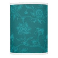 Vintage Floral Teal Turquoise Lamp Shade   Zazzle