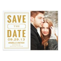 Vintage Frame Save the Date Announcement | Zazzle
