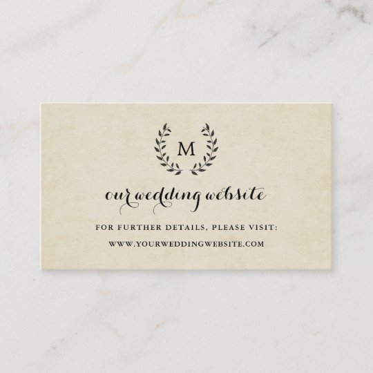 Vintage French Style Wreath Wedding Website Insert Zazzle