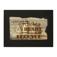 Vintage Kitchen Wood Wall Art Sign | Zazzle