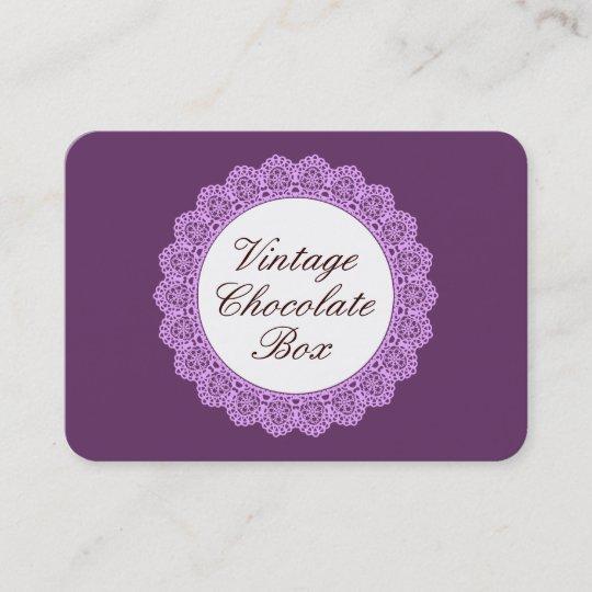 Vintage Lace Template V09 Purple Business Card Zazzle