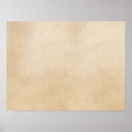 Vintage Paper Antique Parchment Template Blank Poster Zazzle