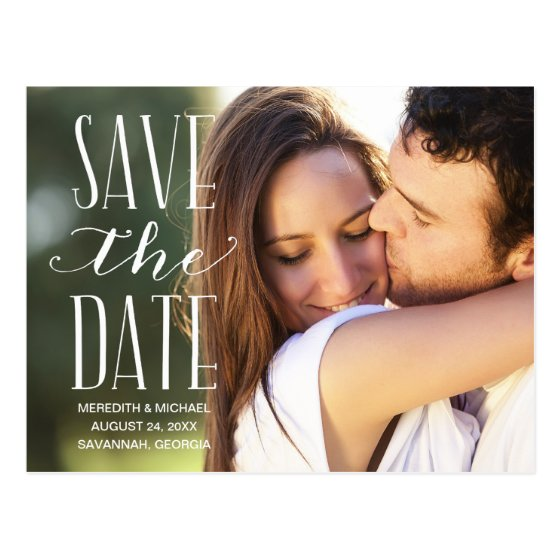 Vintage Whimsy | Photo Save the Date Postcard