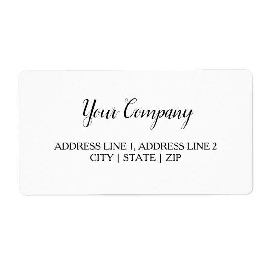 Wedding, Business Shipping Label Zazzle