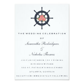 Wedding Invitation | Romantic Rose Nautical