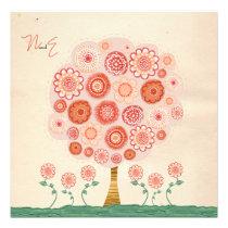 Wedding Orange Blossom Tree Printable Invitation