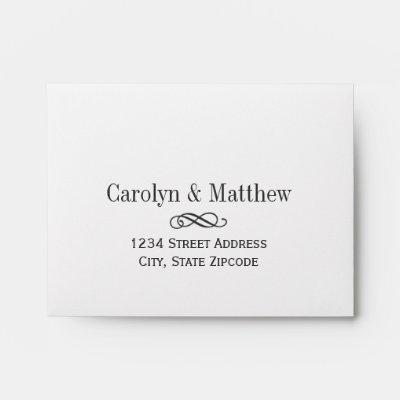 Return Address for RSVP Envelope Zazzle - wedding rsvp envelope size