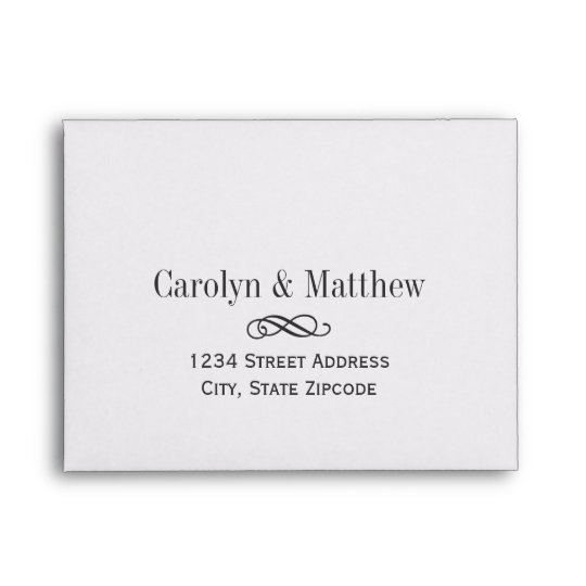 Wedding RSVP Envelopes Printed Address Zazzle - wedding rsvp envelope size