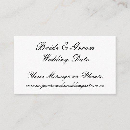 Wedding Website Insert Card for Invitations Zazzle