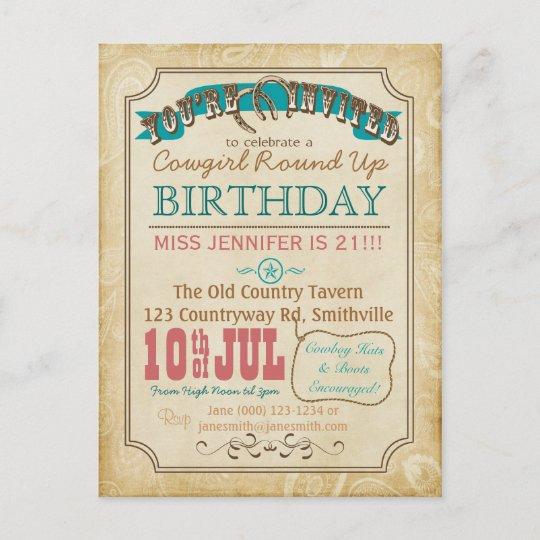 Western Style Postcard Invitation Zazzle