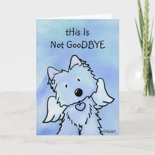 Westie Angel Pet Loss Sympathy Card Zazzle