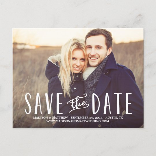 Whimsy Save the Date Postcard Zazzle - save date postcard