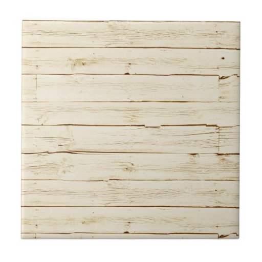 White Faux Wood Ceramic Tile Zazzle