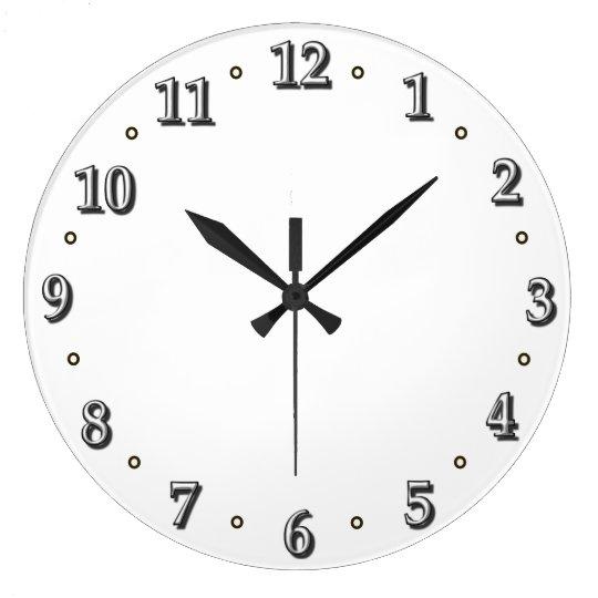 White Numbers Clock Face Template Zazzle - clock face template