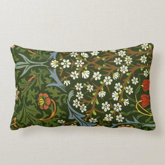 William Morris Vintage Blackthorn Pattern Lumbar Pillow