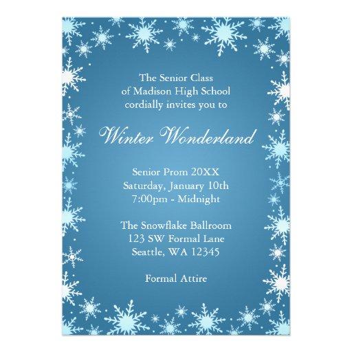 free winter wonderland invitations templates - Militarybralicious - prom invitation templates