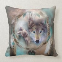 Wolf - Dreams Of Peace Art Decorator Pillow | Zazzle