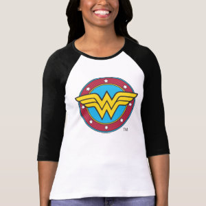 Wonder Woman Circle & Stars Logo T-Shirt