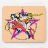 Wonder Woman Donna Troy Star Background Mousepad