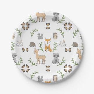 Woodland Animal Plates Zazzle