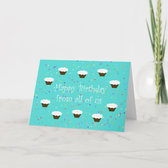 Work Birthday Card from Group Zazzle