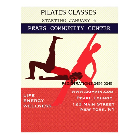 Work It Out! Pilates Yoga Exercise Workout Flyer Zazzle