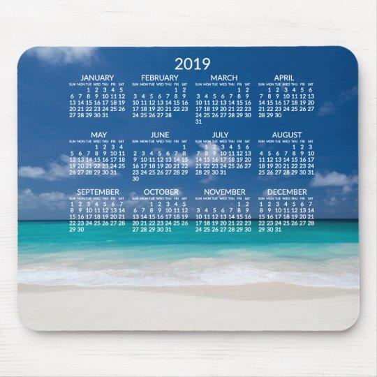 Yearly Beach Calendar 2019 Mousepads Add Photo Zazzle