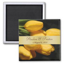 Yellow Tulips Floral Save The Date Magnet