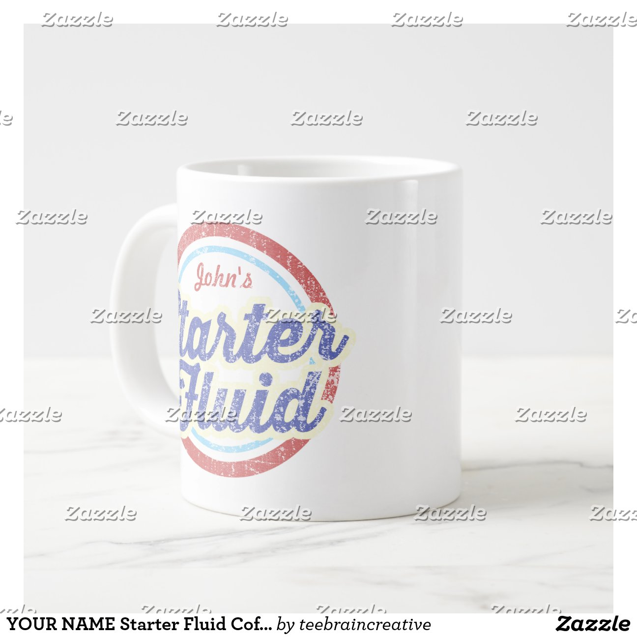 Speciality Coffee Mugs Your Name Starter Fluid Coffee 20 Oz Large Ceramic Coffee
