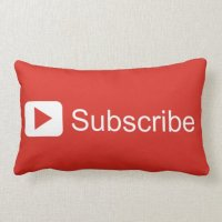 Youtube Subscribe Pillow | Zazzle