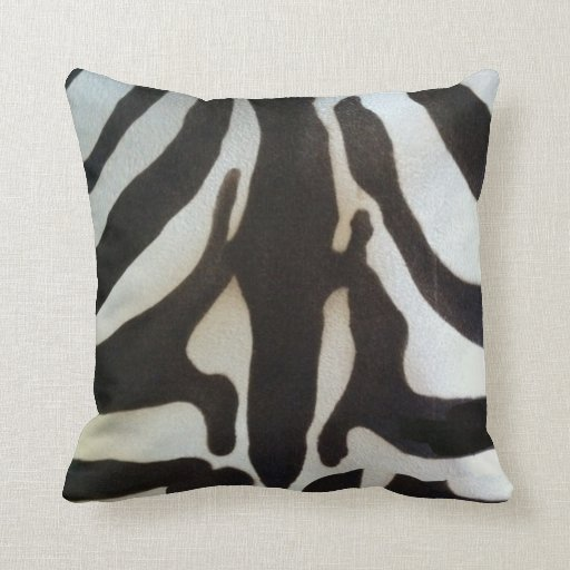Zebra Skin Print Throw Pillows Zazzle