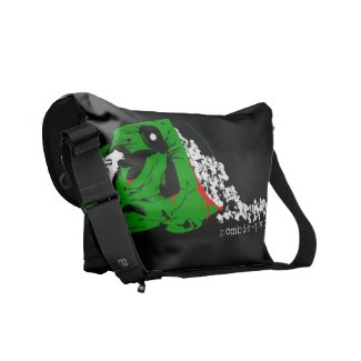Zombie Popcorn Messenger Bag