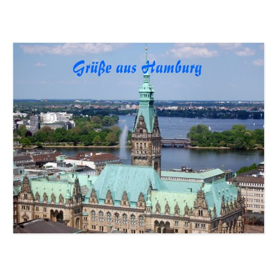 Baby Spucktücher Hamburg Postkarte | Zazzle