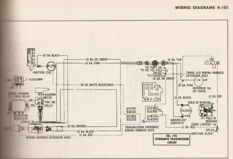 Overdrive Relay Diagram Wiring Diagram