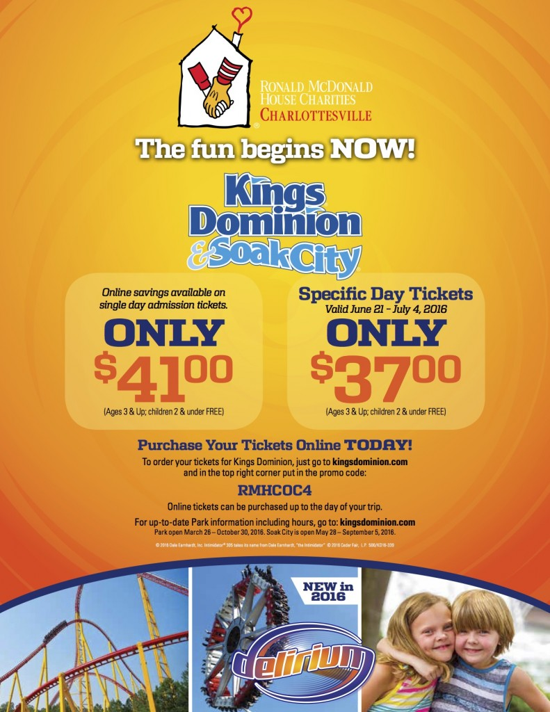 Kings dominion flyer 2016
